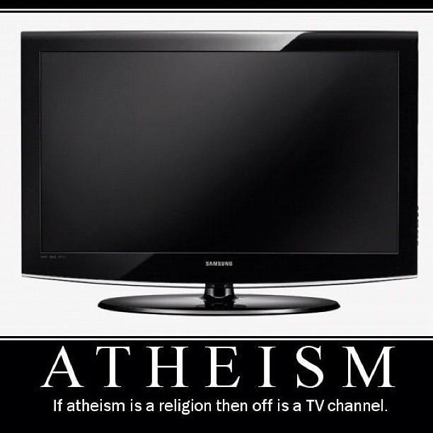 Atheism is not a religion!