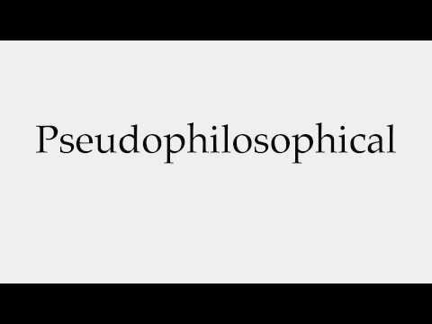 Pseudophilosophy
